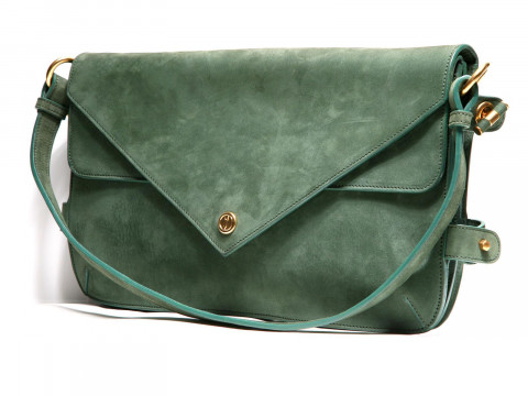 Сумка кож. конверт (SHOULDER BAG sage 60021)зел Vionnet з12